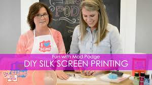 DIY Silk Screen <b>Printing</b> at Home with Mod Podge! - YouTube