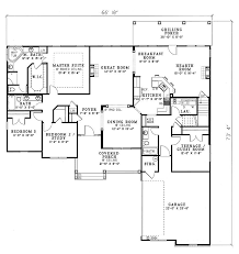 House Plan at FamilyHomePlans comCountry Traditional House Plan Level One