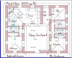 bedroom u shaped floor plans   courtyard   clutterus     a     bedroom u shaped floor plans   courtyard   clutterus     a straw bale house plan  sq  ft    Floorplans   Pinterest   Straw Bales  House plans and