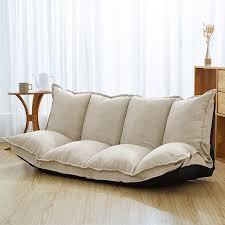 A <b>Linen Fabric Upholstery Adjustable</b> Floor Sofa Bed Lounge Sofa ...