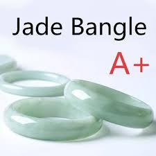 ZO 53-64mm Chinese Beautiful Light Green Jade Bangle Hand ...
