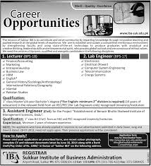 canteen stores department job opportunities khazana pk career opportunities in sukkur institute of business administration iba