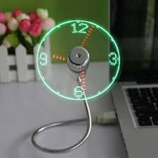 <b>USB</b> мини-гибкое время часов <b>Вентилятор</b> с Подсветкой ...