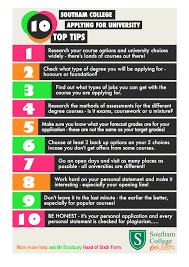 10 top tips southam college sixth form top tips sixth form