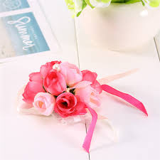 Bridesmaid <b>Wedding</b> Girls Prom Party <b>Wrist</b> Corsage Bracelet Hand ...