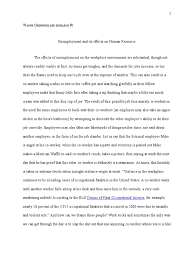unemployment and its effects on human resource parody