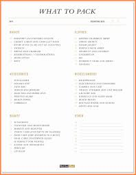 tropical vacation packing list invoice example  10 tropical vacation packing list friday 10th 2017 checklist template