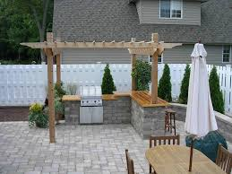 gallery outdoor kitchen lighting: image of outdoor kitchen plans free