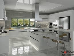 polyurethane kitchen cupboards welbom  new white customized polyurethane kitchen furniture
