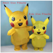 Mascot <b>Pikachu Inflatable Costume</b> Cosplay Xmas Funny Dress ...