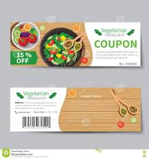 vector set of discount coupons for stationary accessories vegetarian food coupon discount template flat design royalty stock image