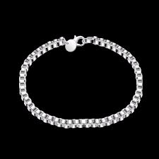 SMTCAT Men's <b>Jewelry 4mm</b> Wide 19CM Length Bracelet 925 pure ...