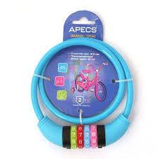 <b>Замок</b> велосипедный <b>APECS PD</b>-<b>85</b>-<b>65CM</b>-<b>CODE</b>-<b>BLUE</b> — купить ...