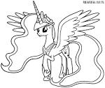Картинки для раскрасок май литл пони