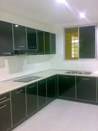 kitchen cabinets glass doors design style: image of kitchen cabinet with magic glass door
