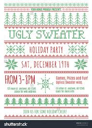 red green ugly christmas sweater party stock vector  red and green ugly christmas sweater party invitation template