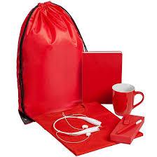 <b>Набор Welcome Kit</b>, <b>красный</b> с логотипом – купить оптом в ...