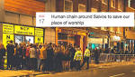 Students plan to form a 'human chain around Salvos' in order to save the club