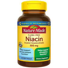 <b>Flush</b>-<b>Free Niacin 500 mg</b> Softgels | For Circulatory Health | Nature ...