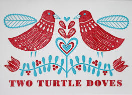 Image result for 2 turtle doves and a partridge in a pear tree