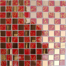tiles red kitchen glass