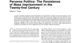 review essay  capital and politics by leo panitch   political    perverse politics  the persistence of mass imprisonment in the  st century
