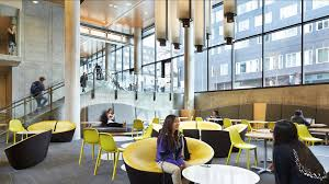 university of washington lander hall mithun through the cascading entry from campus parkway students are greeted by local point dining and its social lounge space for meals and community