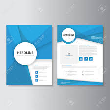 blue brochure flyer leaflet presentation templates infographic blue brochure flyer leaflet presentation templates infographic elements flat design set for marketing advertising stock vector