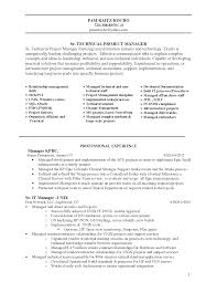 effective project manager resume cipanewsletter cover letter sample technology manager resume information