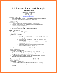 format of resume for job   appointmentletters infoexample job resume for first job simpleinvoice top