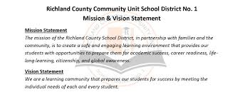 home richland county community unit school district  mission vision statements