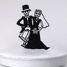Creative Wedding Cake Topper <b>Acrylic</b> Skeleton Bride & Groom ...