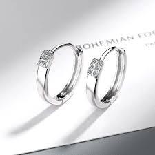 Simple 925 Sterling Silver Mosaic <b>AAA CZ Zircon</b> Stud Earrings for ...