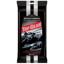 "<b>Салфетки влажные</b> для салона автомобиля ""<b>Top Gear</b>"", 30 штук ..."