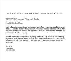 Interview Thank You Email Sample Subject Line - Cover Letter Templates Interview Thank You Email 7 Free Samples Examples Format