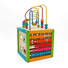 Wooden Puzzle Beads Learning Toy Box Building ... - Amazon.com