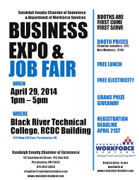 2014 business expo job fair randolph county chamber of commerce 2014 expo registration flyer page 001