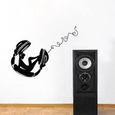 sun wall decal trendy designs: chill chick on headphones wall decal trendy wall designs