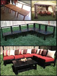 patio furniture sectional ideas: adiy patio furniture my husband made this sectional sofa set out of plans can be found on ana white website  day project back yard ideas home projects