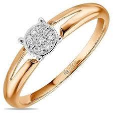 ЛУКАС <b>Кольцо с 7 бриллиантами</b> из красного золота R01-D ...