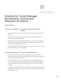 appendix b checklist for transit manager recruitment training page 131