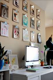 the clipboard art trick apartment therapy a great idea for the studio home art for home office