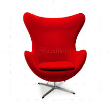 arne jacobsen style egg cashmere wool chair red arne jacobsen style egg