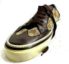 <b>Gucci</b> мужские модные <b>кеды низкие</b> США 9/8G коричневый холст ...