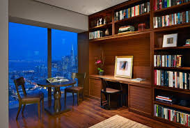 small office designs home office contemporary with area rug bookcases bookshelf blue modern home office