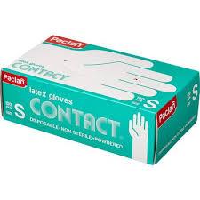 <b>Перчатки Paclan латексные</b> опудренные размер S (100 штук в ...