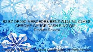 B2 BZ-DR09C MERCEDES BENZ W163 ML-CLASS <b>CHROME</b> ...