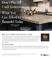 How To Finance Kitchen Remodel Cambria Kitchen Bath Decor