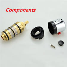 thermostatic brand bathroom: brand new brass bath shower thermostatic cartridge amp handle for mixing valve mixer repair g