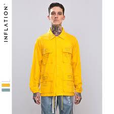 INFLATION <b>Letter</b> Printed MultI pocket Windbreaker Shirt 2018 ...